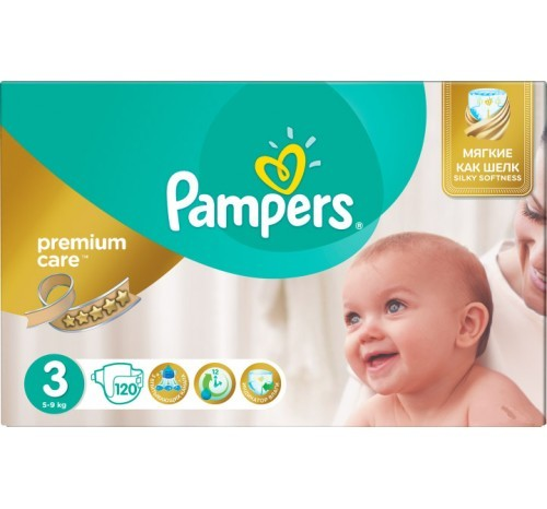 Pampers Premium Care 3- 120 шт. фото №1