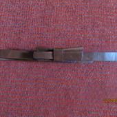 Кожаный коричневый пояс на липучке