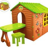 Большой садовый домик Mochtoys + столик