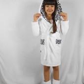 Детский махровый халат Белоснежная пинцеса
