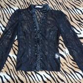 Кружевная черная блуза 38 размера