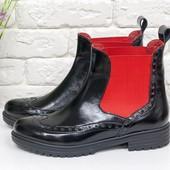Натуральные ботинки Челси осень-зима(1830),р-ры 36-41,любой цвет!