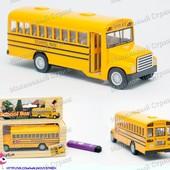 Металлический школьный автобус, инерционный, модель школьного автобуса, двери открываются
