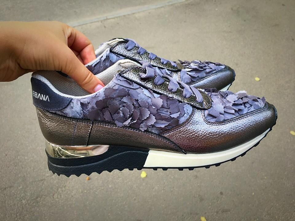 Шикарные кроссовки из натуральной кожи фото №1