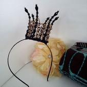 корона Королева Ночи шестиконечная, шикарная Hand Made
