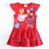 Красное летнее платье с Пеппой TM Nova