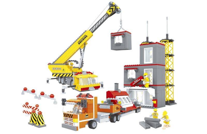 Конструктор ausini 29110 городские строители, 1016 деталей фото №1