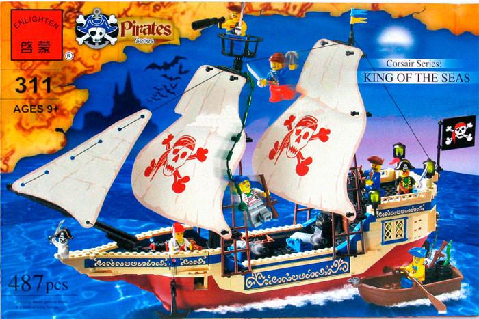 Конструктор brick 311 пиратский корабль фото №1