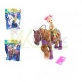 Набор  кукла с  белой  лошадью