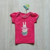 Новая яркая футболочка для девочки. Joules. Размер 0-3 месяца