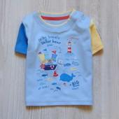 Новая футболочка для маленького модника. George. Размер 0-3 месяца, будет гораздо дольше