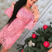 Красивое кружевное платье. Расцветки. Размер: 42, 44 {