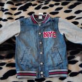 Крутая джинсовка H&M 4-5лет