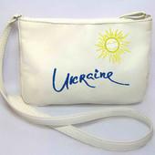 Женская сумочка Мini - Ukraine- белая