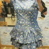Платье -Gepur- 44 см, новое, двухярусное.  Замеры: Пог-46 см, Пот-39 см, 50 см, длина 88 см