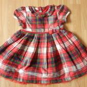 Фирменное  нарядное платье George  малышке 9-12 месяцев состояние  нового