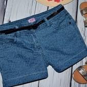 7 - 8 лет 128 см Шорты шортики под колготки или на лето джинс леопард