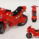 Детский толокар мотоцикл, красный