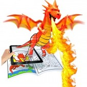 Распродажа - Раскраски с оживающими картинками + фломастеры Барби, Замки и драконы от Crayola