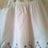 платье беленькое с вышывкой