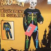 Карнавальный костюм скелет 140р Германия новогодний хэллоуин