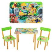 Детский столик и два стульчика  501-19