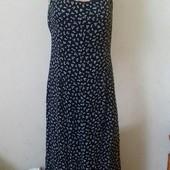 Длинное платье-сарафан с принтом