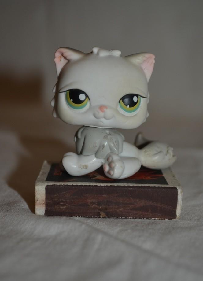 Пет шопы pet shop игрушки зоомагазин littlest pet shop lps кошка кошечка с магнитом фото №1