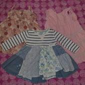 Пакет брендовых сарафанов и платье на девочку 1-2года