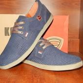 Мужские мокасины-туфли Konors синие 40 размер