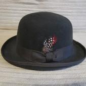 Красивая фетровая шляпа - котелок кофейного цвета F&C Felt Hat