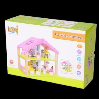 Деревянный кукольный домик na-na lelin (iм410) фото №1