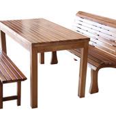Комплект садовой мебели из ясеня.