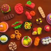 Мини-еда для Барби или для игр. Набор 20 шт.  Есть также овощи и фрукты. Порадуйте свое чадо)