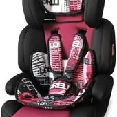 Надежное автокресло детское Bertoni Junior Premium urban rose  9-36 кг