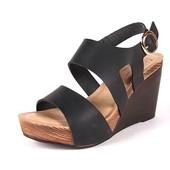100-20-014 Женская летняя обувь, босоножки, цвет-черный, Inblu, размеры 36-41