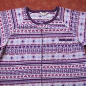 Флисовый взрослый человечек-пижама размер L (16-18), б/у. Хорошее состояние, без пятен. Длина 146 с