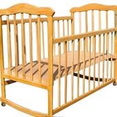 +Видеообзор. Натуральное дерево, качественная детская кроватка, Славянка  ЭКО на ламелях kb-00.sl-00