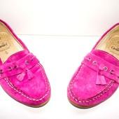 Туфли мокасины Caprice 37-38р натуральная замша- Фуксия