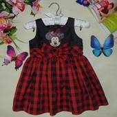 18-24м(86-92см)Нарядное платье Disney.Мега выбор обуви и одежды!