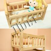 Ліжечко для ляльок дерев'яне,нове,Україна