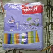 Остатки подгузников Happy newborn 1 (2-5кг), pampers sleep&play 2, Дада-2