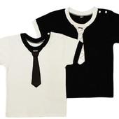 Реглан школьный, футболка, для мальчика. Белая и черная
