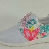Супер стильные кроссовки с цветочным принтом! Супер мода!