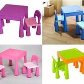 Столик и два стульчика Tega baby Mamut все цвета
