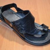 кожаные сандали-шлепанцы