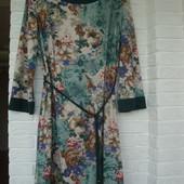 Платье с цветочным принтом, 40 размер