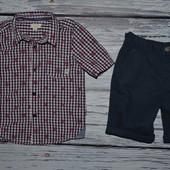 1 - 2 года 92 см Очень модная фирменная рубашка тенниска для мальчика с черепами