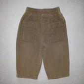 Вельветовые штаны унисекс рост 68 см. на подкладке.