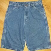 Мужские джинсовые шорты, синего цвета р. 30